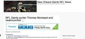 healincomfort is a big fan of New Orleans Saint Thomas Morstead!