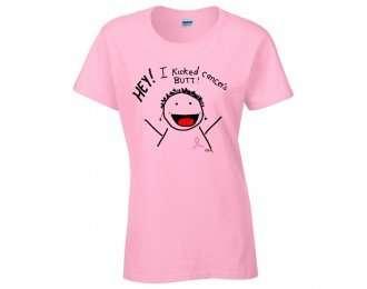i kicked cancer's butt! t-shirt