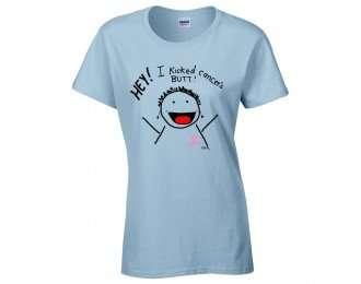 hey! i'm kick'n cancer's butt! t-shirt