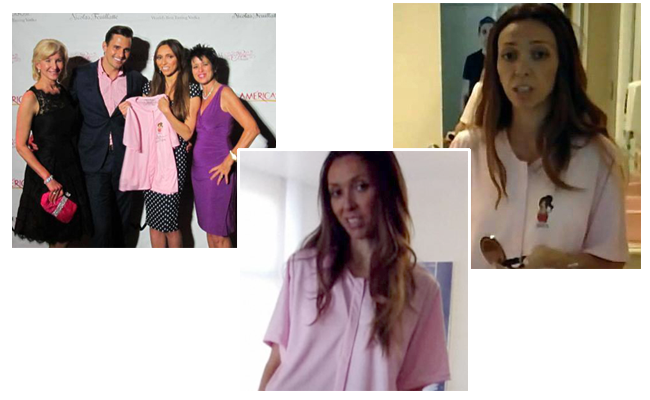 giuliana rancic wears healincomfort breast cancer shirt