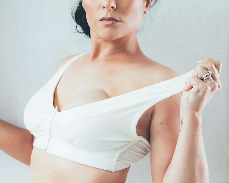 Mastectomy bra for breast forms