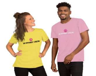 breast cancer support crew t-shirts