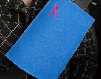 Mastectomy Recovery Seatbelt Cushion (Blue)