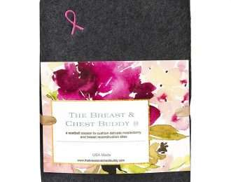Mastectomy Recovery Seatbelt Cushion (Charcoal with Ribbon)