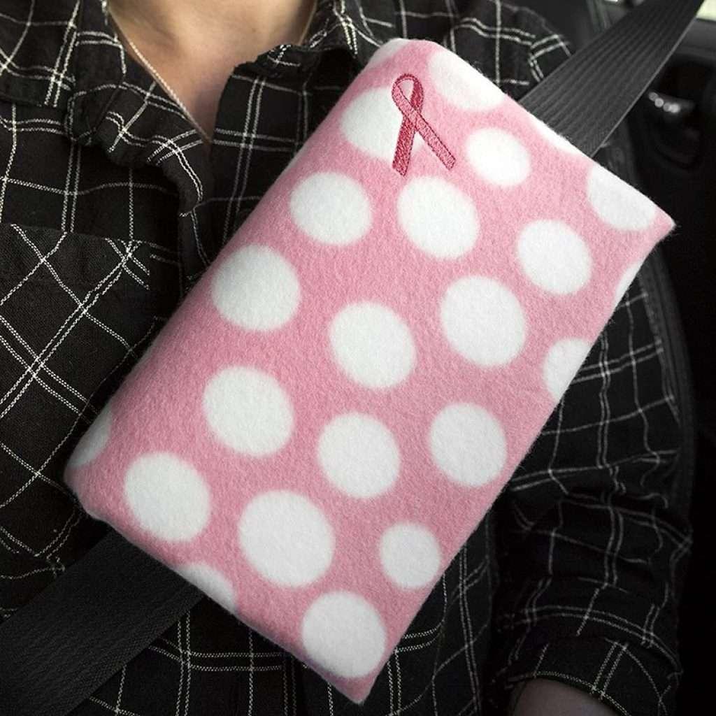 Mastectomy Recovery Seatbelt Cushion (Polka Dots)